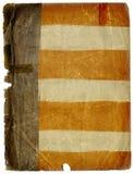Schmutziger Grunge Flagge-Papier-Hintergrund Textur Stockfotografie