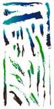 Schmutziger grunge Kratzer splat Punkt knackte Formen 4 lizenzfreie abbildung