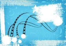 Schmutziger Hintergrund mit einem Film Stockbild