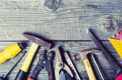 Schmutziger Satz Handalte Werkzeuge Lizenzfreie Stockfotografie