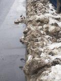 Schmutziger Schnee Lizenzfreie Stockfotografie