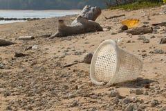Schmutziger Strand auf der Insel von wenigem Andaman in Lizenzfreie Stockfotografie