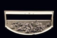 Schmutziger Trocknerfusselbildschirm Stockbild