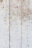 Schmutziger weißer hölzerner Hintergrund Stockfotos