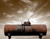Schmutziges Ölbarrel Stockbild