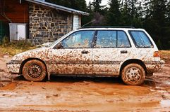 Schmutziges Auto Lizenzfreies Stockfoto