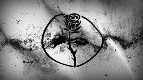 Schmutziges fahnenschwenkendes Anarchie Rosaleen-Schmutzes auf Wind stock abbildung