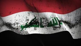 Schmutziges fahnenschwenkendes der Irak-Schmutzes auf Wind vektor abbildung