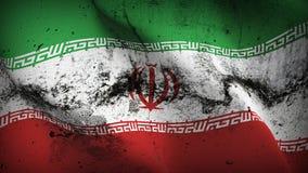 Schmutziges fahnenschwenkendes der Iran-Schmutzes auf Wind vektor abbildung