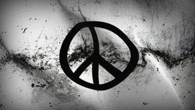 Schmutziges fahnenschwenkendes des Friedenszeichen-Schmutzes auf Wind stock abbildung