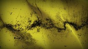 Schmutziges fahnenschwenkendes des gelben Schmutzes auf Wind lizenzfreie abbildung