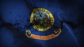 Schmutziges fahnenschwenkendes des Idaho-US-Staats-Schmutzes auf Wind vektor abbildung