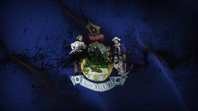 Schmutziges fahnenschwenkendes des Maine-US-Staats-Schmutzes auf Wind lizenzfreie abbildung