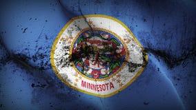 Schmutziges fahnenschwenkendes des Minnesota-US-Staats-Schmutzes auf Wind lizenzfreie abbildung