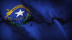 Schmutziges fahnenschwenkendes des Nevada-US-Staats-Schmutzes auf Wind vektor abbildung