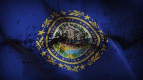 Schmutziges fahnenschwenkendes des New Hampshire-US-Staats-Schmutzes auf Wind stock abbildung
