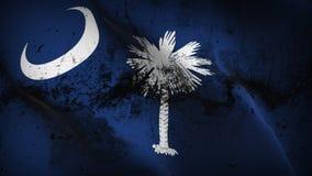Schmutziges fahnenschwenkendes des South- Carolinaus-staats-Schmutzes auf Wind stock abbildung