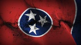 Schmutziges fahnenschwenkendes des Tennessee-US-Staats-Schmutzes auf Wind lizenzfreie abbildung