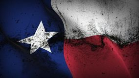 Schmutziges fahnenschwenkendes des Texas-US-Staats-Schmutzes auf Wind stock abbildung
