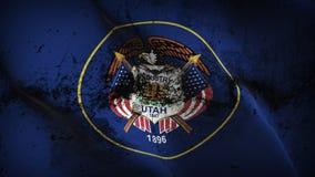 Schmutziges fahnenschwenkendes des Utah-US-Staats-Schmutzes auf Wind vektor abbildung