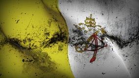 Schmutziges fahnenschwenkendes des Vatikanstadtschmutzes auf Wind stock abbildung