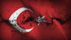 Schmutziges fahnenschwenkendes die Türkei-Schmutzes auf Wind stock abbildung