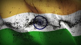 Schmutziges fahnenschwenkendes Indien-Schmutzes auf Wind vektor abbildung