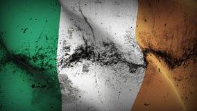 Schmutziges fahnenschwenkendes Irland-Schmutzes auf Wind vektor abbildung