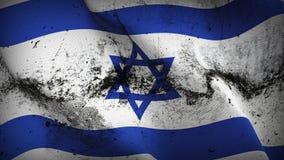Schmutziges fahnenschwenkendes Israel-Schmutzes auf Wind vektor abbildung