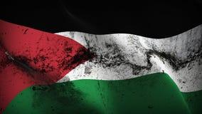Schmutziges fahnenschwenkendes Jordanien-Schmutzes auf Wind lizenzfreie abbildung
