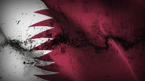 Schmutziges fahnenschwenkendes Katar-Schmutzes auf Wind vektor abbildung