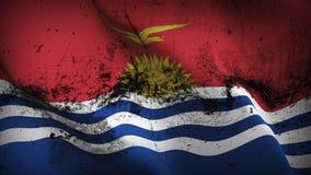 Schmutziges fahnenschwenkendes Kiribati-Schmutzes auf Wind vektor abbildung