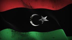 Schmutziges fahnenschwenkendes Libyen-Schmutzes auf Wind vektor abbildung