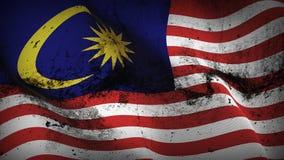 Schmutziges fahnenschwenkendes Malaysia-Schmutzes auf Wind vektor abbildung