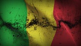 Schmutziges fahnenschwenkendes Mali-Schmutzes auf Wind stock abbildung