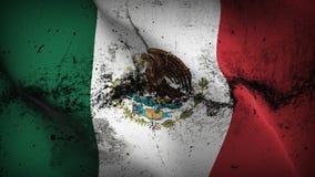 Schmutziges fahnenschwenkendes Mexiko-Schmutzes auf Wind vektor abbildung