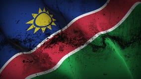 Schmutziges fahnenschwenkendes Namibia-Schmutzes auf Wind stock abbildung
