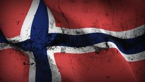 Schmutziges fahnenschwenkendes Norwegen-Schmutzes auf Wind lizenzfreie abbildung