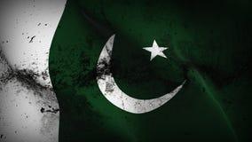Schmutziges fahnenschwenkendes Pakistan-Schmutzes auf Wind lizenzfreie abbildung
