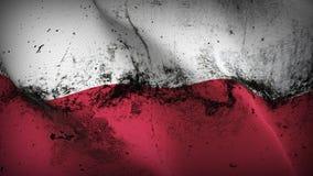 Schmutziges fahnenschwenkendes Polen-Schmutzes auf Wind vektor abbildung