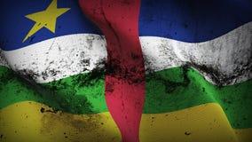 Schmutziges fahnenschwenkendes Republik- Zentralafrikaschmutzes auf Wind vektor abbildung