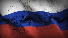 Schmutziges fahnenschwenkendes Russland-Schmutzes auf Wind stock abbildung