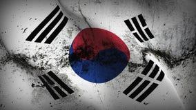 Schmutziges fahnenschwenkendes Südkorea-Schmutzes auf Wind stock abbildung