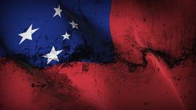 Schmutziges fahnenschwenkendes Samoa-Schmutzes auf Wind stock abbildung
