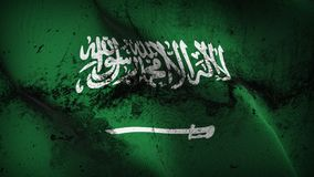 Schmutziges fahnenschwenkendes Saudi-Arabien Schmutzes auf Wind stock abbildung