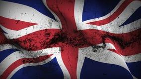 Schmutziges fahnenschwenkendes Schmutzes Vereinigten Königreichs auf Wind stock abbildung