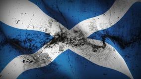 Schmutziges fahnenschwenkendes Schottland-Schmutzes auf Wind vektor abbildung