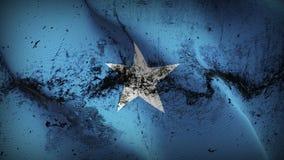 Schmutziges fahnenschwenkendes Somalia-Schmutzes auf Wind vektor abbildung