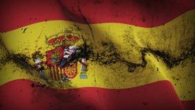 Schmutziges fahnenschwenkendes Spanien-Schmutzes auf Wind vektor abbildung