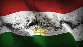 Schmutziges fahnenschwenkendes Tadschikistan-Schmutzes auf Wind lizenzfreie abbildung